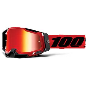 100% Racecraft Anti-Fog Goggles Gen2, red/mirror